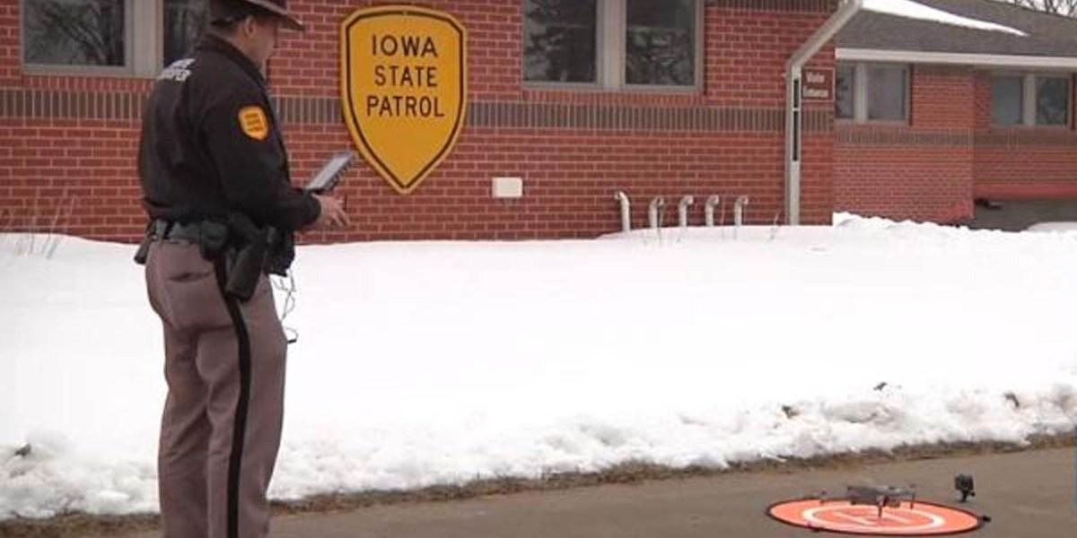 Iowa Sate Patrol drones police