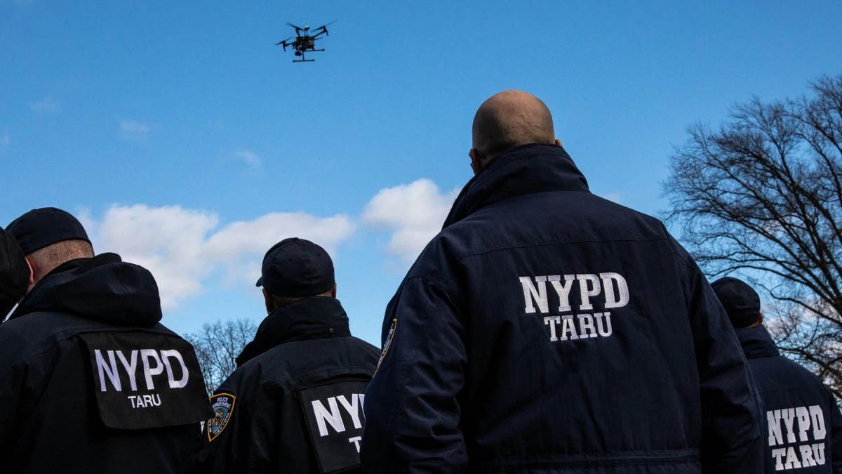 NYPD drones Time Square