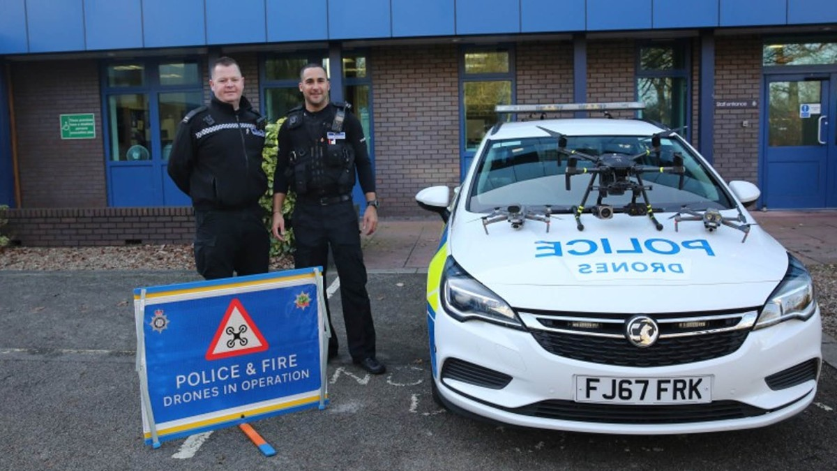 Nottinghamshire Police drone team