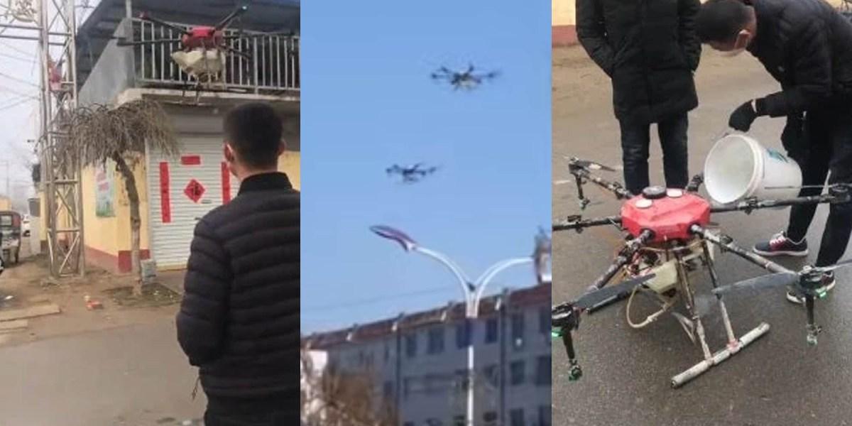 drones chinese coronavirus