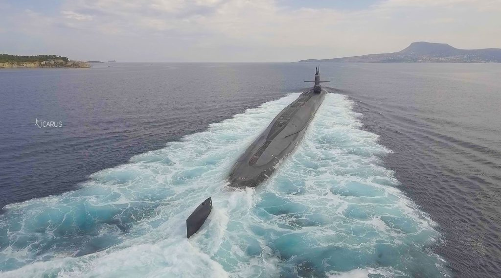 DJI Phantom 4 captures amazing footage of nuclear powered submarine USS Florida