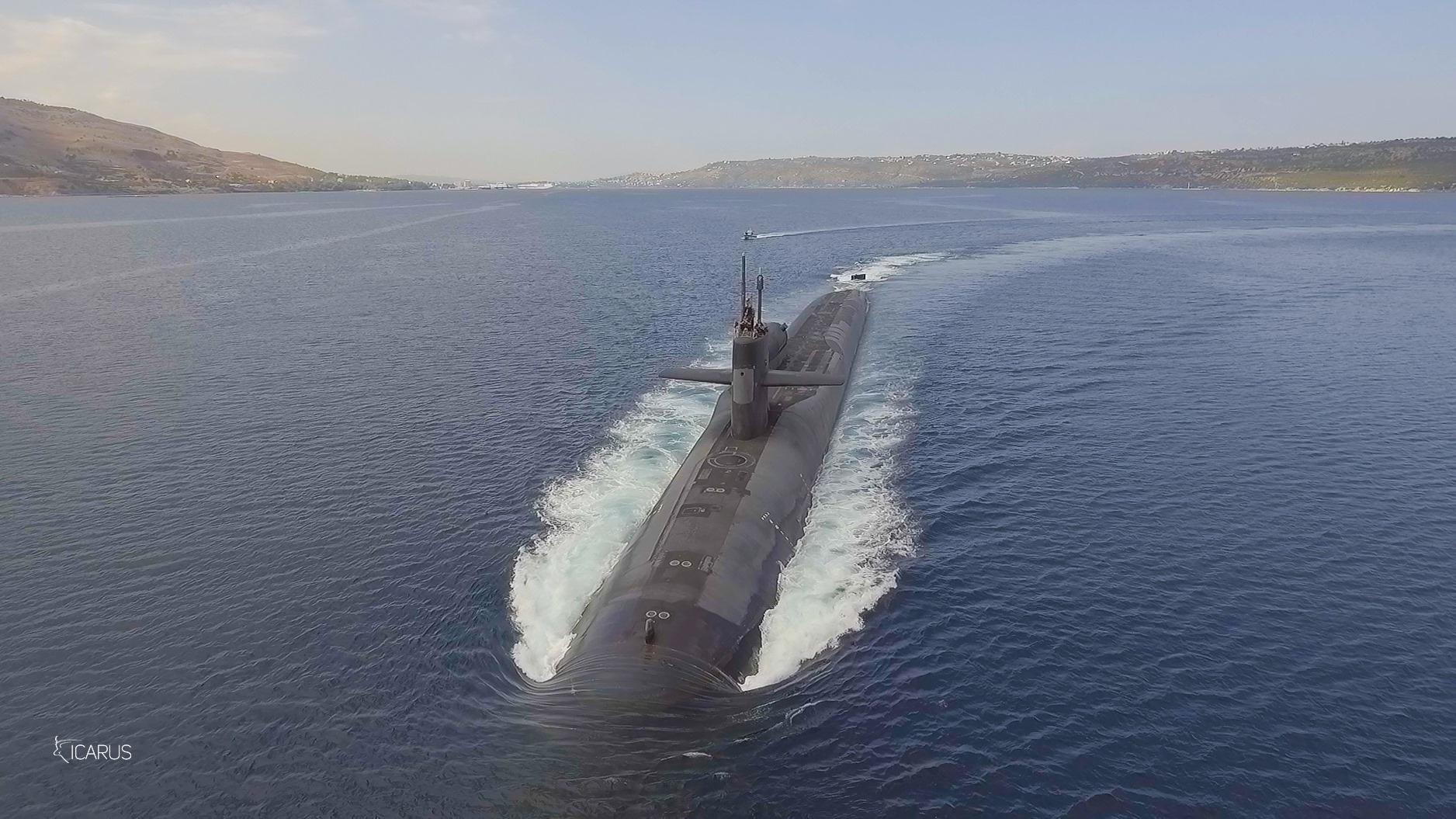 Dji Phantom 4 Captures Nuclear Powered Submarine Uss