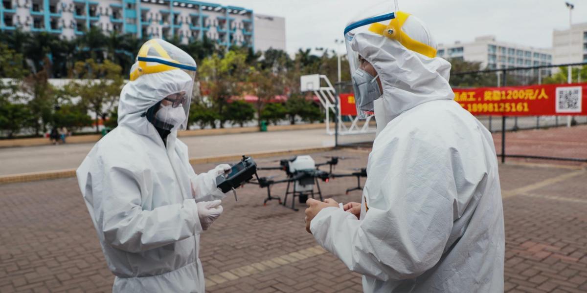 DJI drones are used to fight Coronavirus
