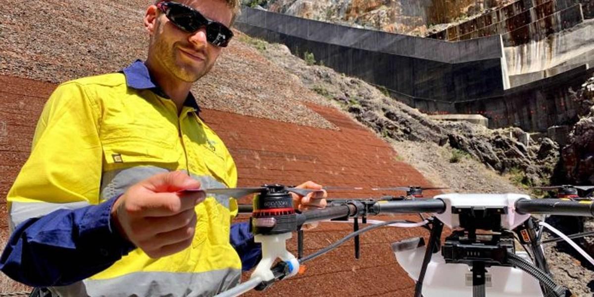 Drone pilot weeds Australia