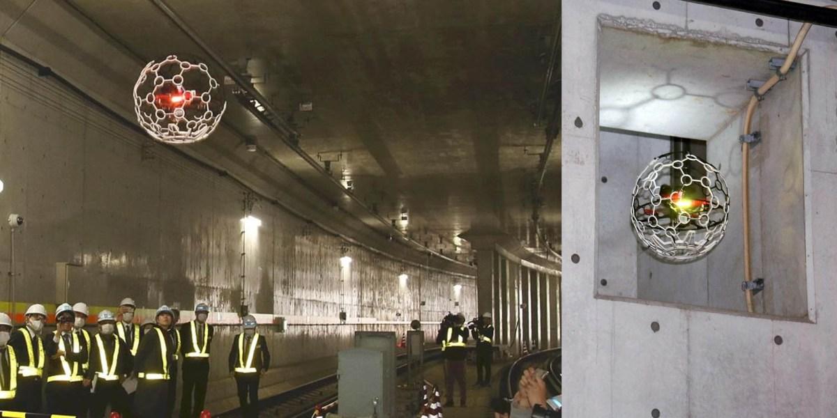 Drones Tokyo subway tunnels