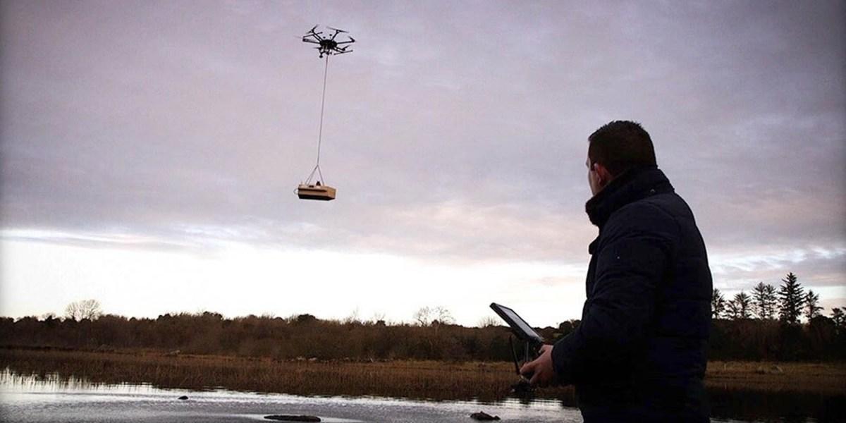 Irish lakes drones water