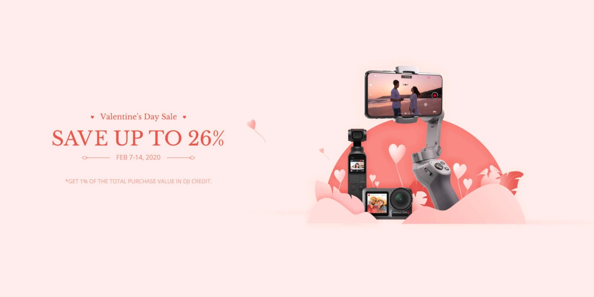 Love is in the air! Special Valentine's offer from DJI. Save up to 26%