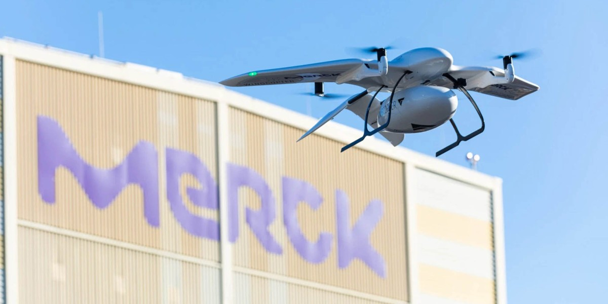 Wingcopter Merck drone delivery
