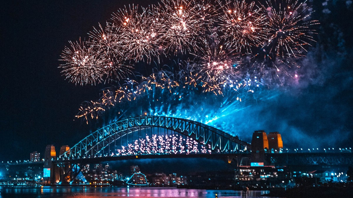drones fireworks Sydney