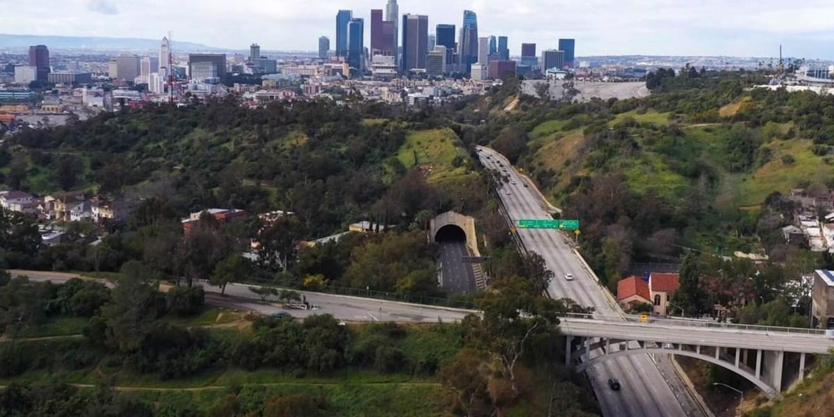 Drone Coronavirus Los Angeles COVID-19 traffic