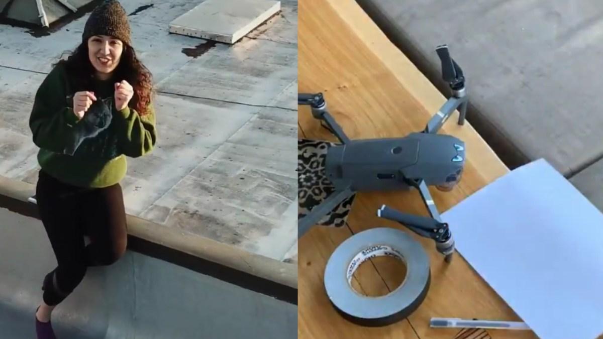 Love is in the air! Drone dating amidst Coronavirus lockdown