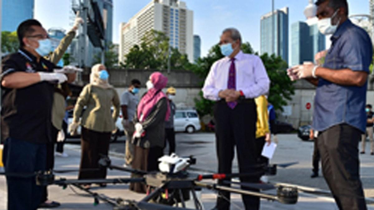 Kuala Lumpur drones coronavirus