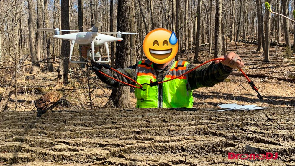 Project turns into drone rescue operation after two DJI Phantom 4's get stuck in 140-foot-high oak trees