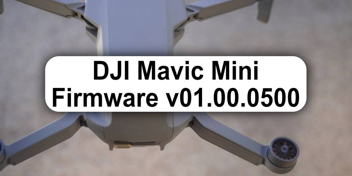 DJI Mavic Mini update firmware