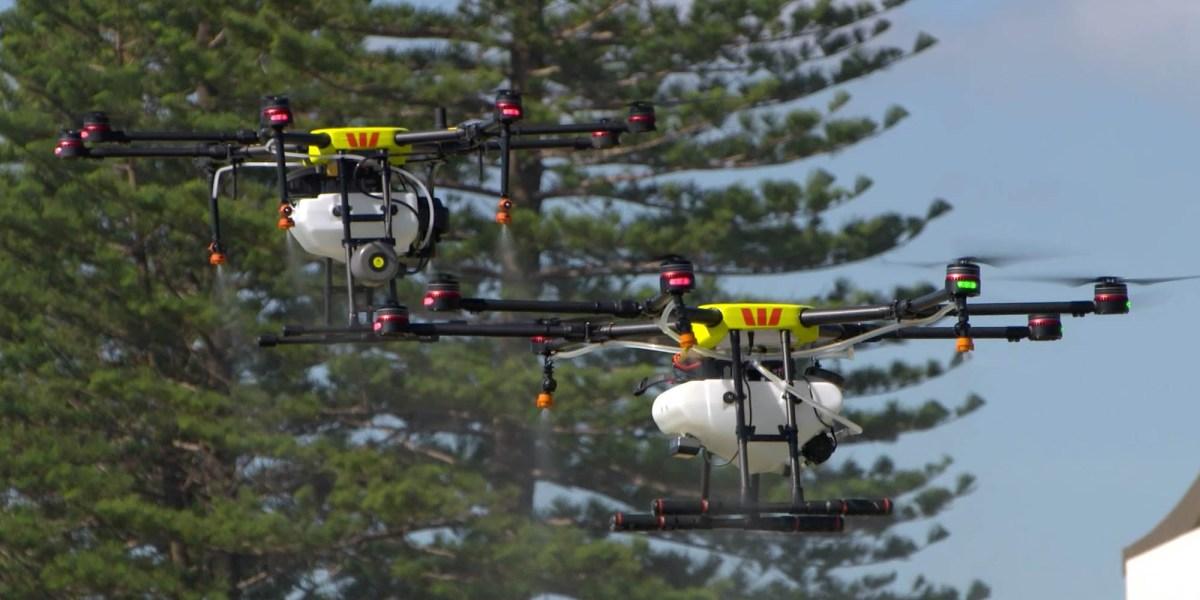 Drones disinfect Australia