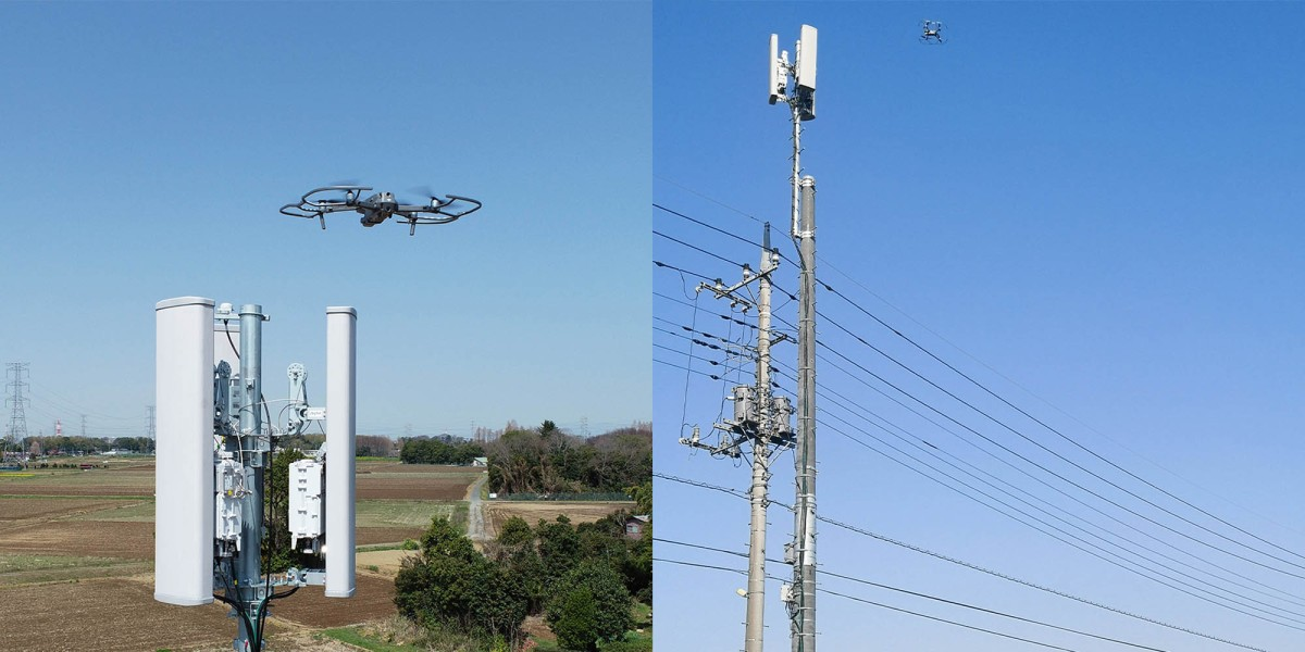 Rakuten Mobile drone inspection 1