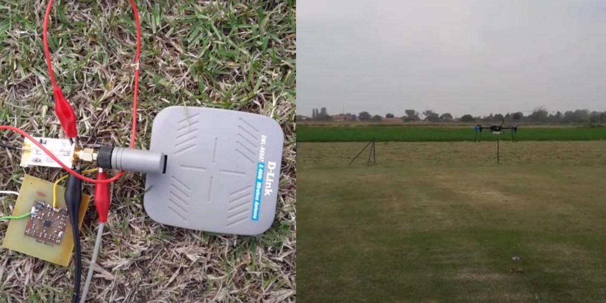 drone charge wake sensors radio waves