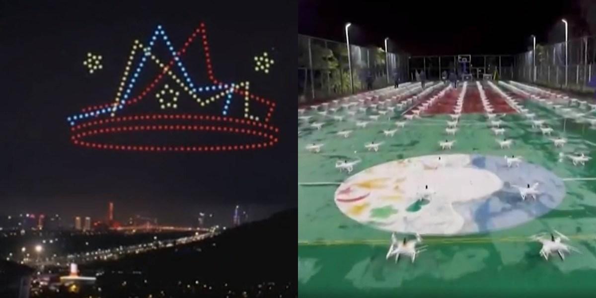 China drones light show