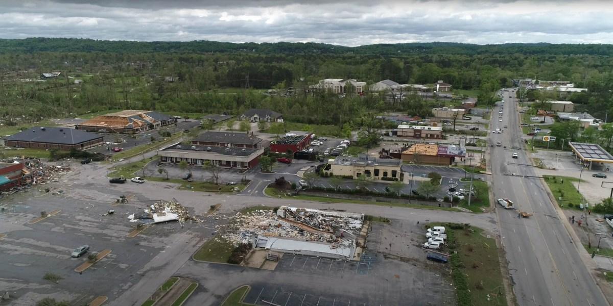 drone video tornado
