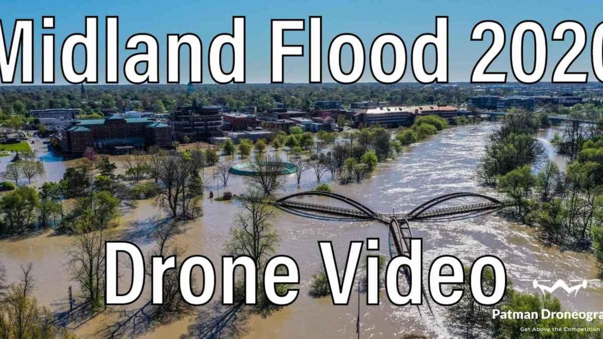 Drones capture Midland flood