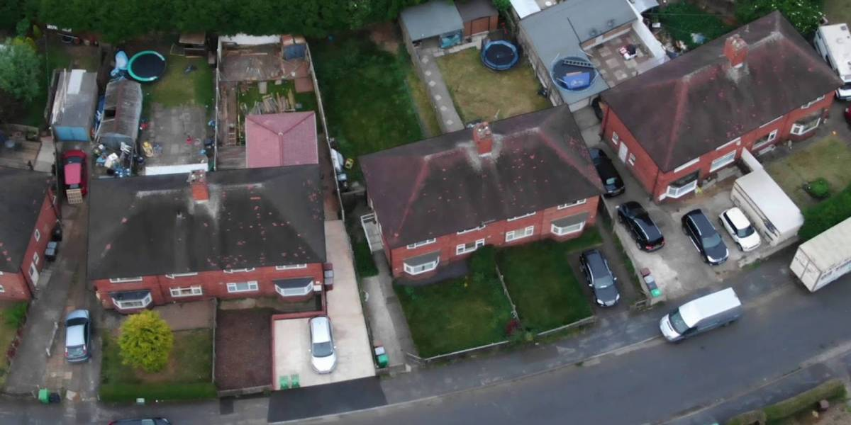 UK police drone footage Nottinghamshire