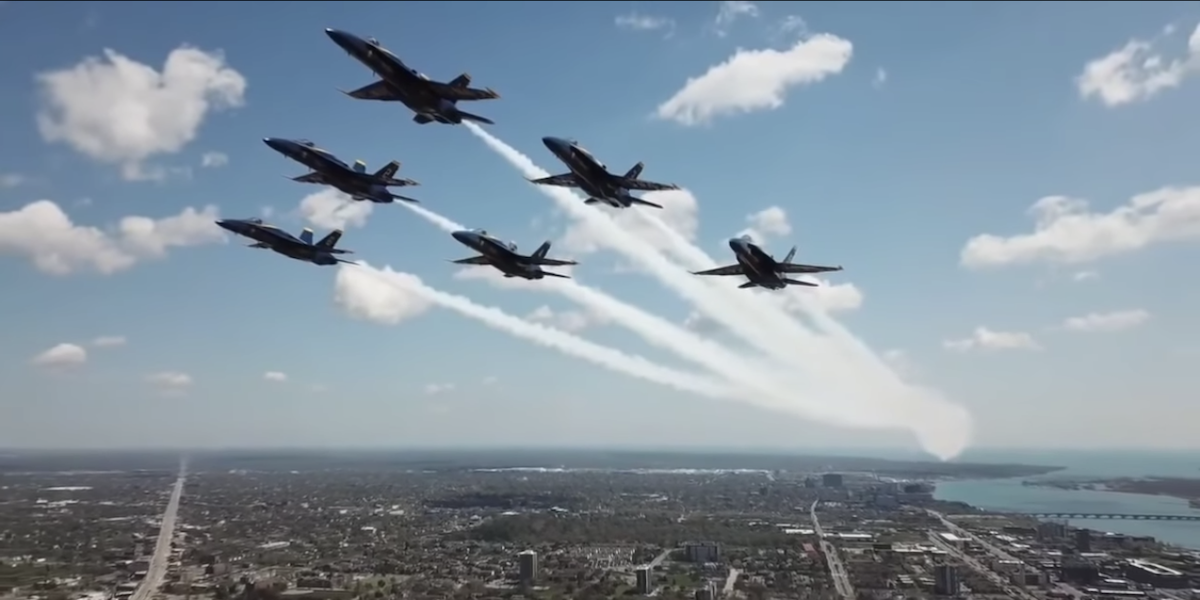 drone blue angels