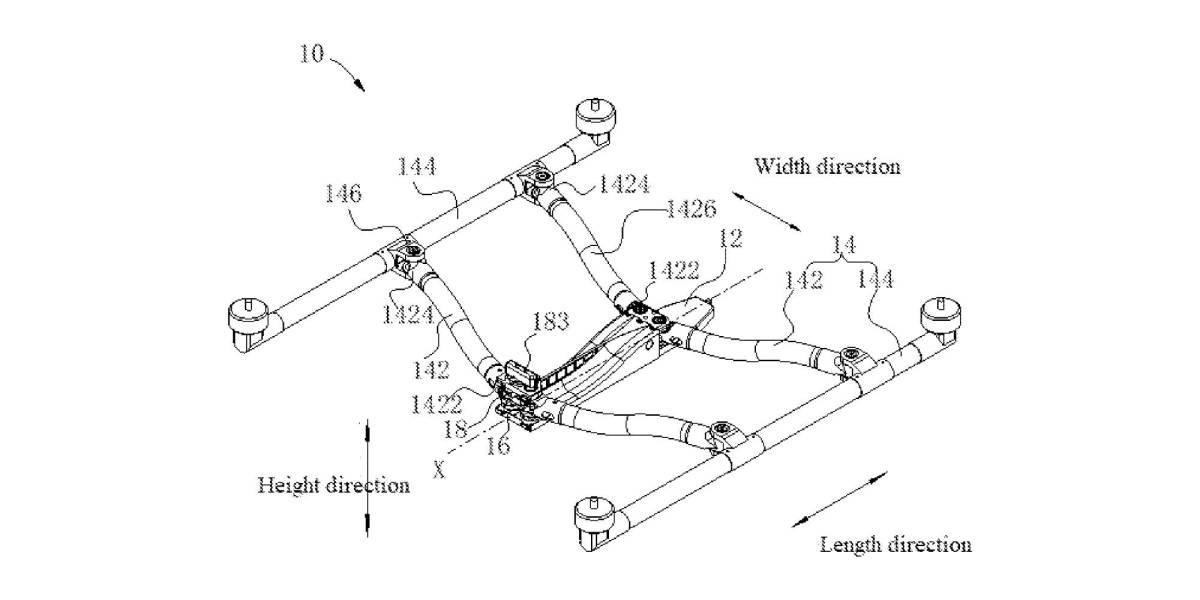 DJI folding drone design