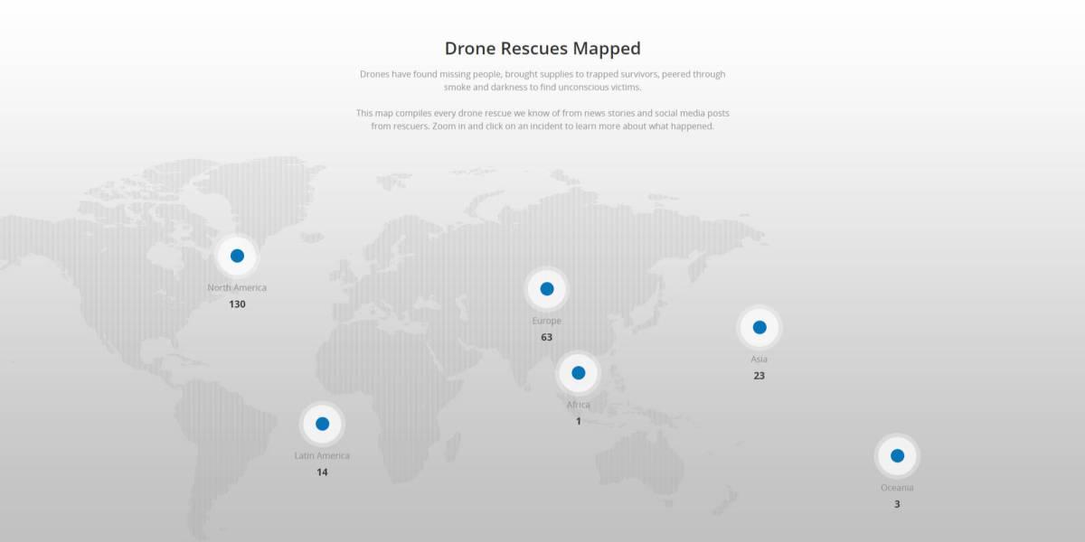 DJI map drone rescues