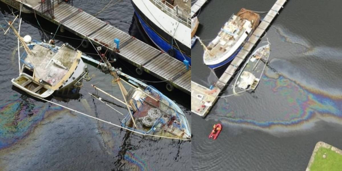 Drone sinking boat fuel