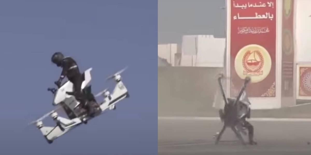 Dubai police hoverbike crash
