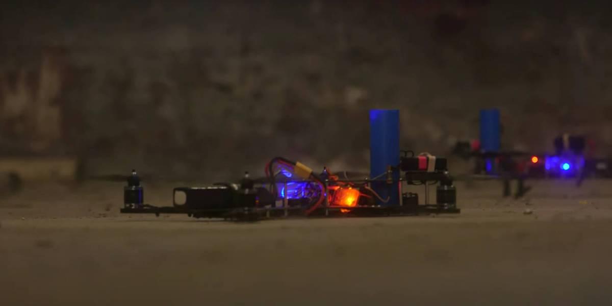 FPV racing drone battle