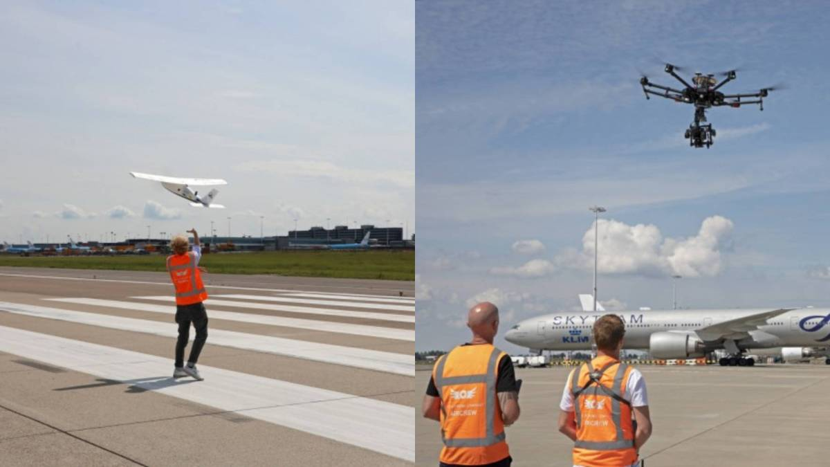 Schiphol Airport inspection drones