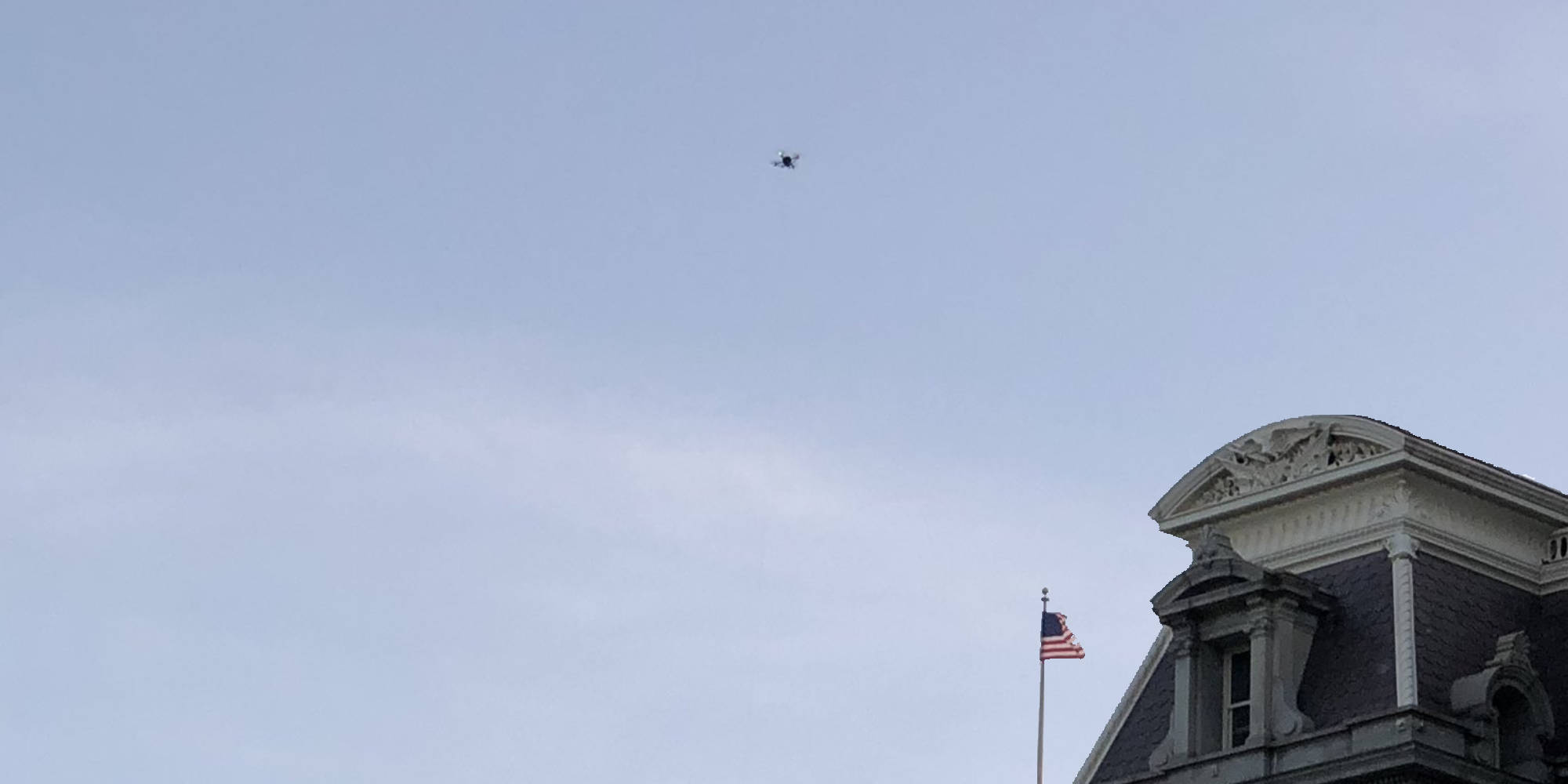 Drone spotted over the EEOB building in Washington yesterday - DroneDJ