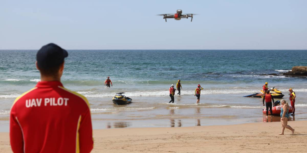drones AI shark beaches