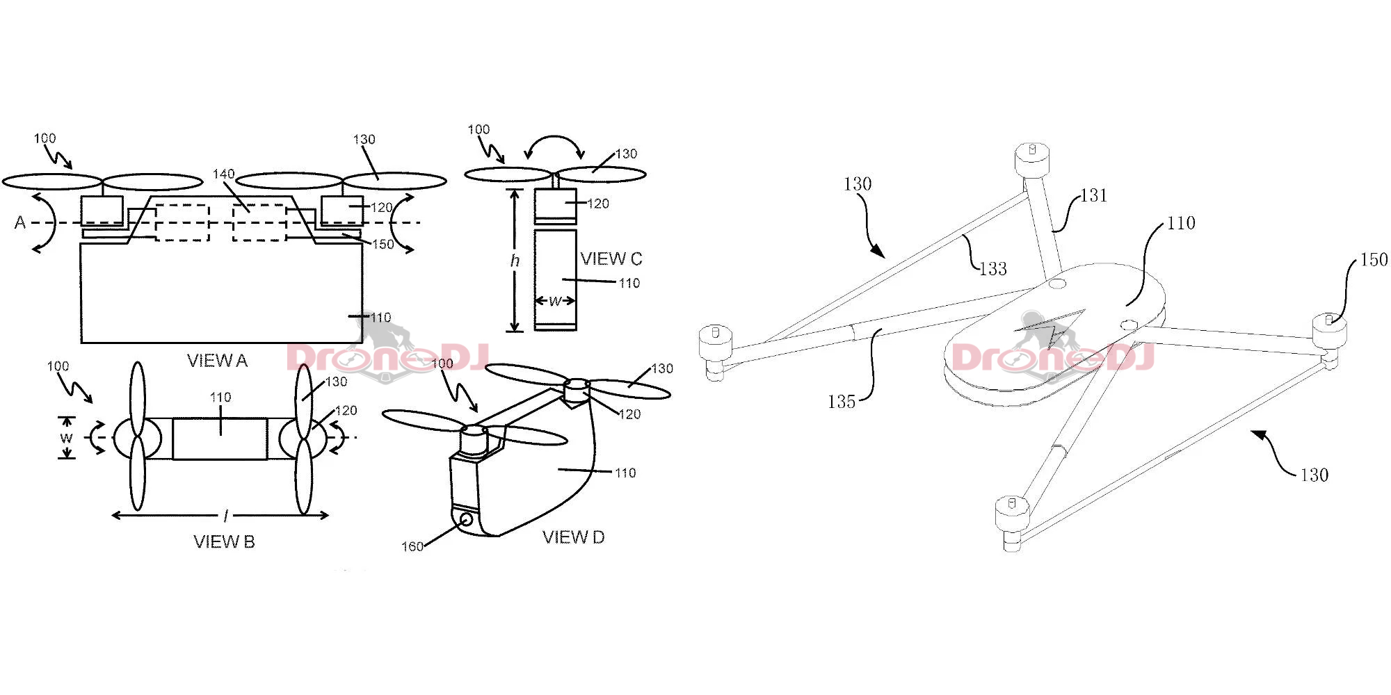 DJI bi-copter and drone frame made public by CNIPA patents - DroneDJ