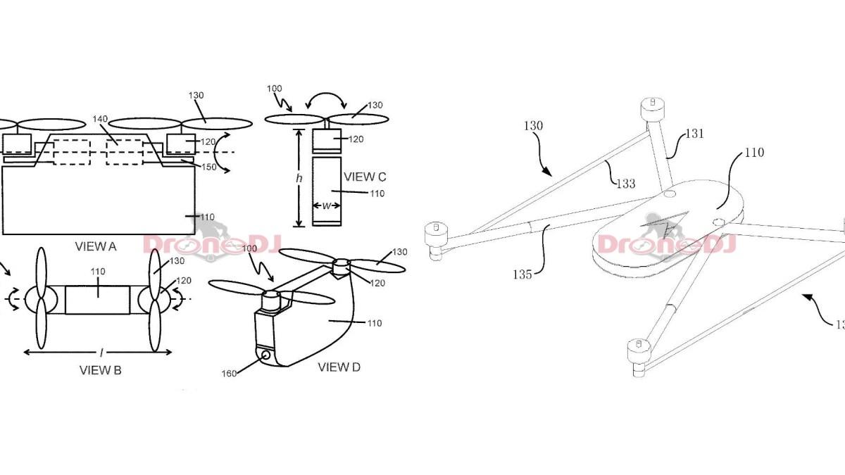 DJI bi-copter drone patents1