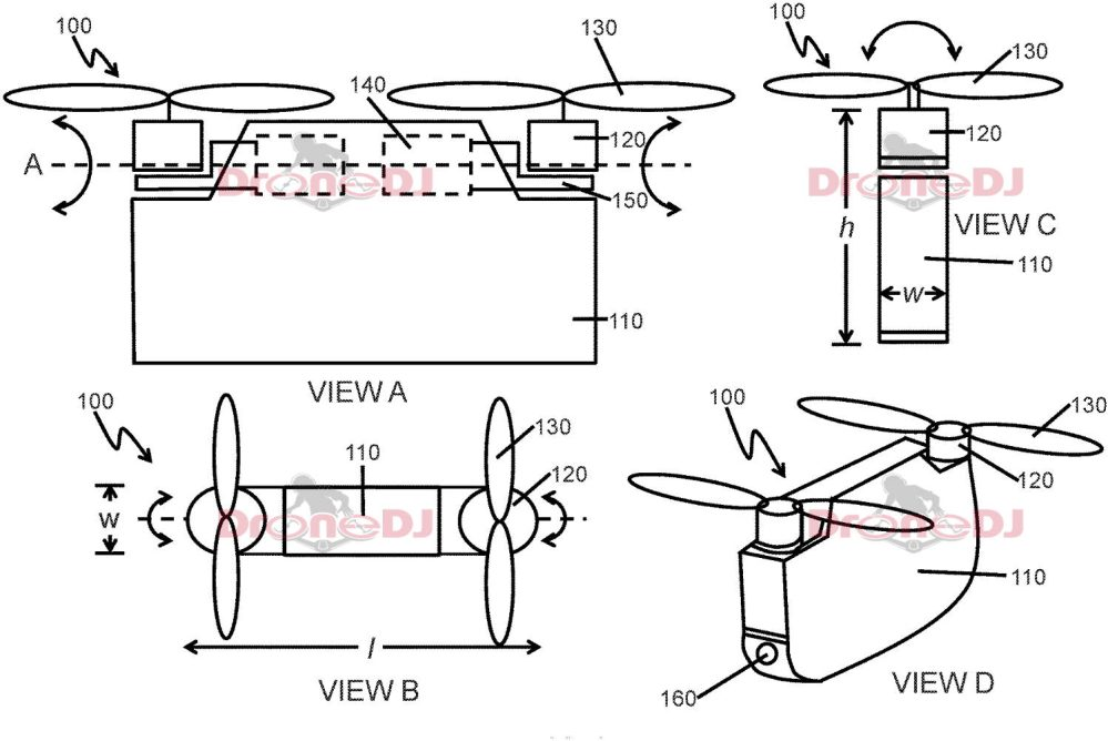 Drawing from the bi-copter patent