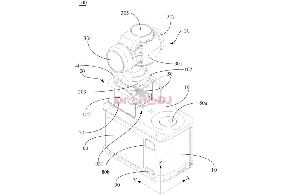 Drawing from the fully integrated gimbal patent DJI Mavic 3 FPV