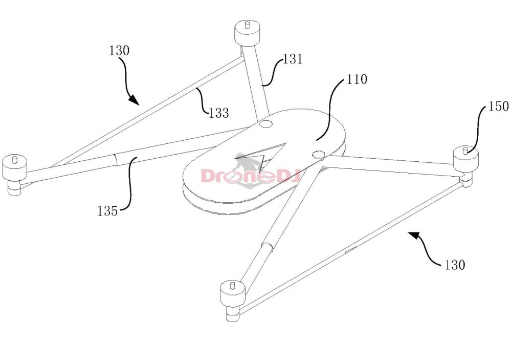 Drawing from the drone frame patent
