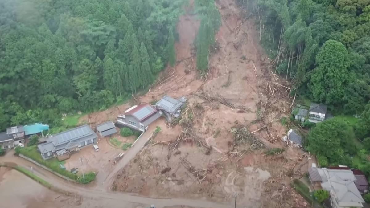 Drone Japan floods