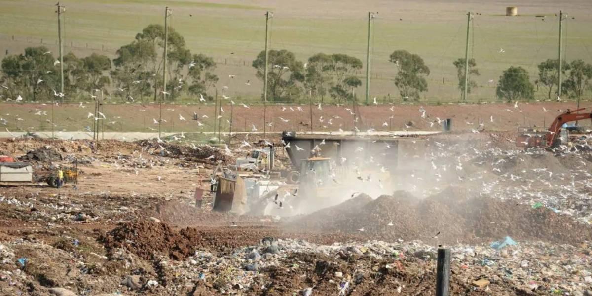 Drone waste landfill
