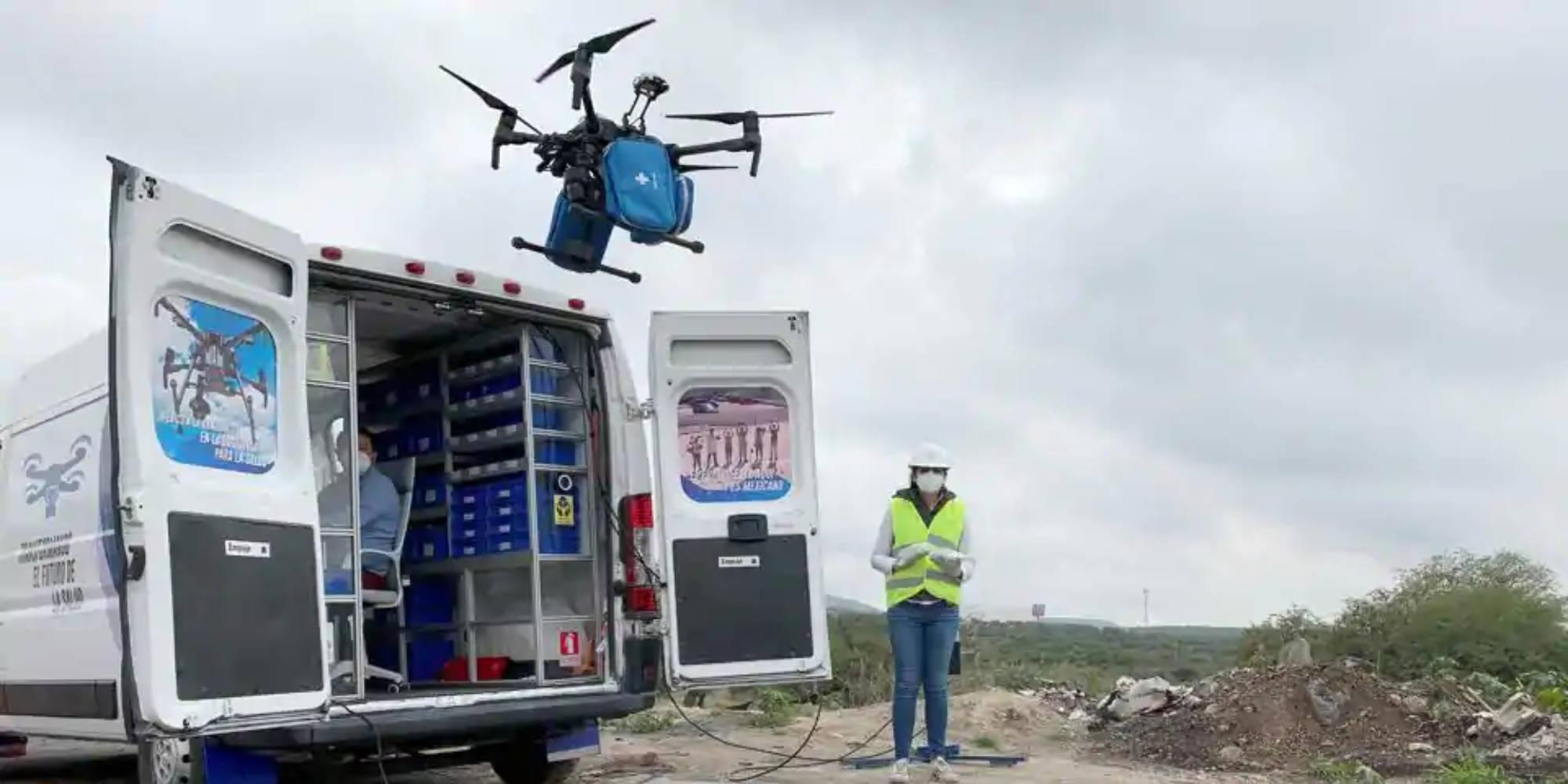 Drones deliver facemasks to Mexican hospitals - DroneDJ