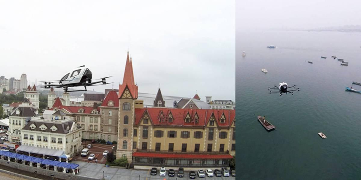 EHang drone passengers China