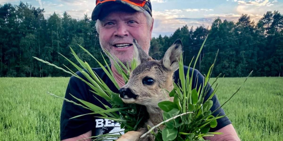 Thermal drone baby Deer