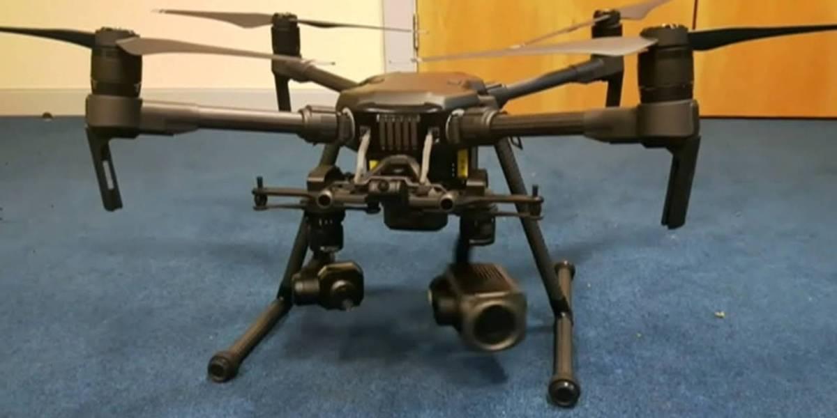 Victorian police drones COVID-19