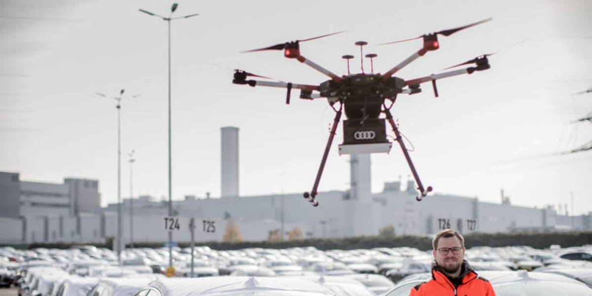 Audi drones find cars