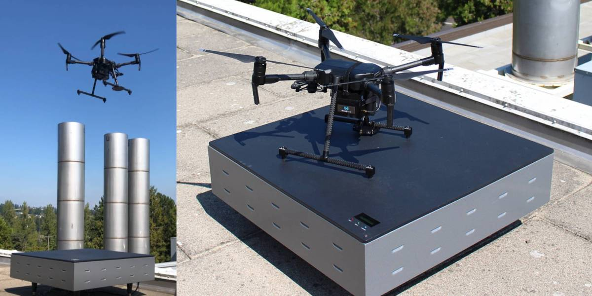 Drone wireless charging WiBotic