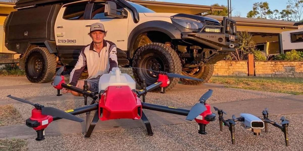 Drones Aussie farmers water