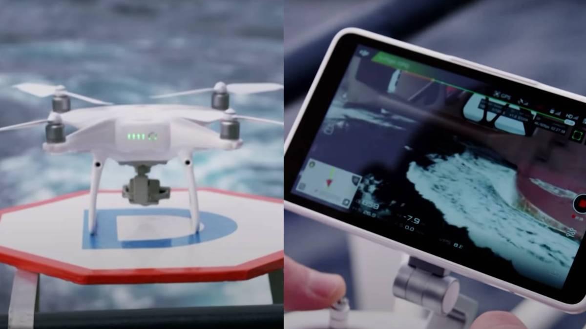 Drones drilling rig safe transportation