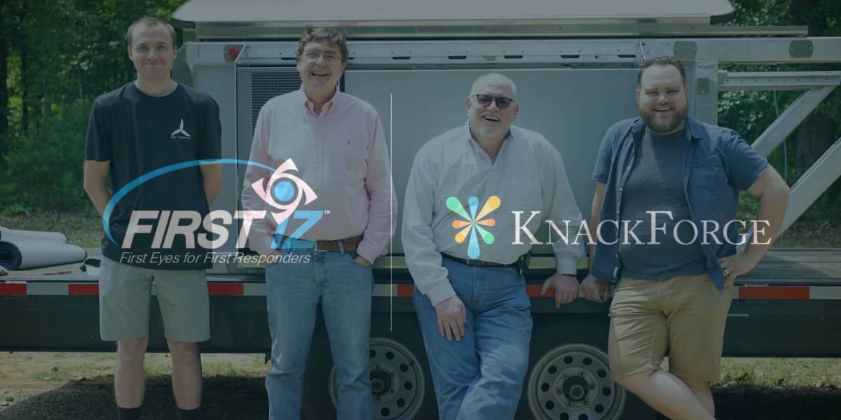 FIRST iZ KnackForge drone port